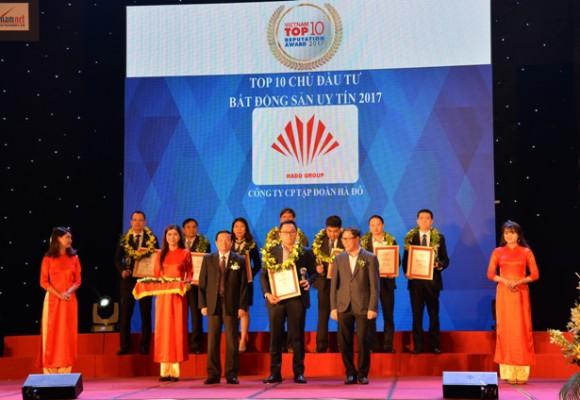 Tập đoàn Hà Đô lần thứ 2 liên tiếp vào TOP 10 Chủ đầu tư Bất động sản uy tín nhất Việt Nam